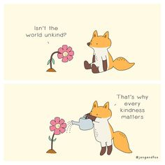 In a bid to inspire kindness and self-love, illustrator Jang (of Jangandfox Studio) creates heartwarming animal comics that are sure to make you smile. Funniest Hilarious Memes, Funny Memes, Make You Smile, Are You Happy, Inspirer Les Gens, Culture Art, Kindness Matters, The Little Prince, Be Kind To Yourself