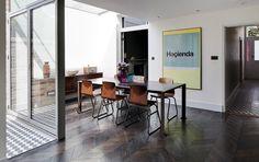 chevron wood floor : elrington air spaces