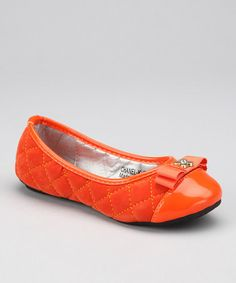 Take a look at this Orange Chanel Ballet Flat by Marilyn Moda on #zulily today!