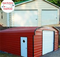 Looking for a new Steel Garage? Check out our metal garages and garage kits at factory direct prices. Metal Garage Buildings, Metal Garages, Coast To Coast Carports, Prefab Garages, Steel Garage, Garage Kits, Roof Styles, Shed, Outdoor Structures