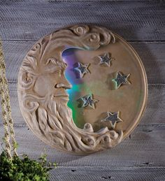 LED-Lighted #Moon And #Stars Wall Art - changes colors at night! Now $39.99 was $59.95 (deal ends 9-15-14)