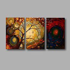 【今だけ☆送料無料】 アートパネル  抽象画3枚で1セット ファンタジー ツリー お花 ホール【納期】お取り寄せ2~3週間前後で発送予定