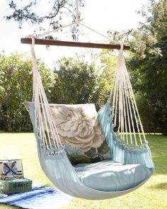 A fun relaxing addition to the garden - Floral Chair Swing #SwingChair