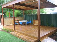 A large sheltered outdoor classroom, come stage, for those highly creative performances. Outdoor Stage, Outdoor School, Outdoor Areas, Outdoor Fun, Natural Playground, Backyard Playground, Outdoor Learning Spaces, Outdoor Shelters, Outdoor Classroom
