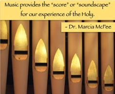 Making music is about composing a moment or an experience for worship.