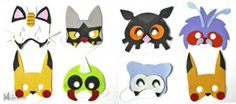 les-masques-pokémon-par-myzotte © reproduction commerciale interdite