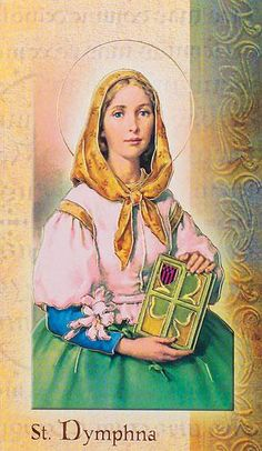 Biography Card of St. Dymphna 2 Page Biography, Card. Includes : Name Meaning, Patron Attributes, Prayer , Feast Day. Wonderful gifts to teach about each Saint. Catholic Gifts, Religious Gifts, Religious Images, Religious Art, St Dymphna, Divine Revelation, Catholic Beliefs, Christian Wife, American Dad