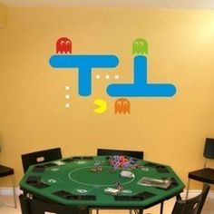 ARCADE PACMAN----decal sticker wall logo wallpaper banner poster home art vinyl (Free shipping to US). $18.99, via Etsy.