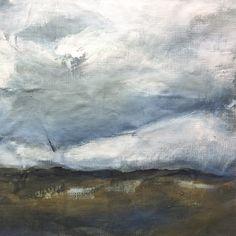 'Open Skies' original painting on linen by Georgie Hoby Scutt for Belle Hawk Original Paintings, Sky, The Originals, Heaven, Heavens