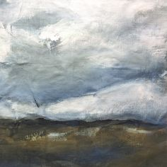 'Open Skies' original painting on linen by Georgie Hoby Scutt for Belle Hawk
