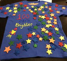 100 Days of School Shirt. 100 Days Brighter!