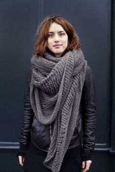Rick Owens <3 So in love with giant scarves <3