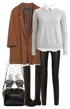 """""""Untitled #8440"""" by nikka-phillips ❤ liked on Polyvore featuring Forever 21, Zara, Proenza Schouler, The Row, VILA, Givenchy, Stuart Weitzman, Vince Camuto, women's clothing and women's fashion"""