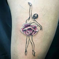 Dancer with floral tattoo by Giulia Carnio