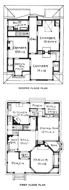 Floor plans for the house in the movie clue bing images george f barber homes vintage house plan this inglenook sounds lovely malvernweather Gallery