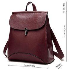 SiMYEER Women's Pu Leather Backpack Purse Ladies Casual Shoulder Bag School Bag for Girls: Handbags: Amazon.com