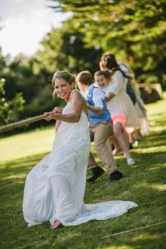 Tug O War! Brilliant fun for wedding day fun and games with your guests. Available for hire from Box and Cox Vintage Hire in Cornwall. Cornish wedding, Cornwall wedding, lawn games, garden games