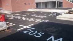 oppmerking på asfalt