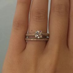Simon G rose gold engagement ring