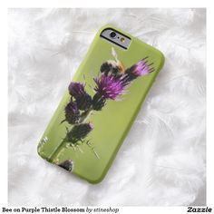 Bee on Purple Thistle Blossom Barely There iPhone 6 Case