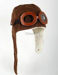 New Kids Cap Pilot Aviator Hat Goggles Boys Girls Soft Costume Steampunk Cap | eBay