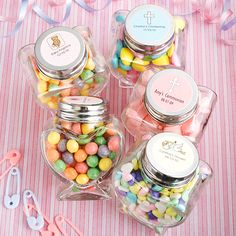 Lolly jar with personalised lid