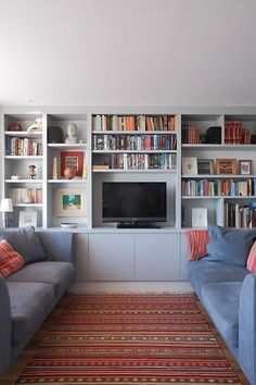 metal barn homes mixture of decorative and books Built In Shelves Living Room, Living Room Bookcase, Living Room Wall Units, Living Room Storage, Living Room Grey, Home Living Room, Living Room Decor, Home Library Design, Interior Design Living Room