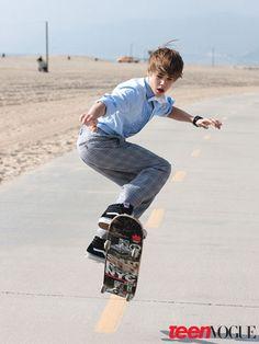 Justin Bieber ;Teen vogue 2010
