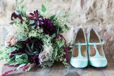 Mint and Plum Wedding Ideas | Sweetly Vintage Photography | see more on: http://burnettsboards.com/2015/11/aubergine-mint-chateau-wedding/