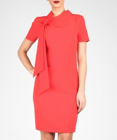 Red tie-detail mini dress Sale - MARMURI Sale
