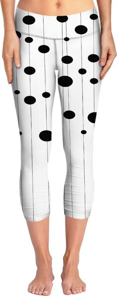 Bubbles on strings yoga pants, stylish black and white pattern, minimalist design, vector lines, stripes, ovals themed meditation clothing - item printed at www.rageon.com/a/users/casemiroarts - also available at www.casemiroarts.com #yoga #pants #girls #clothing #style #fashion #apparel #design