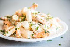 Aspergesalade met zoete aardappel-Voedzaam & Snel Clean Recipes, Lunches, Potato Salad, Clean Eating, Good Food, Potatoes, Healthy, Ethnic Recipes, Life