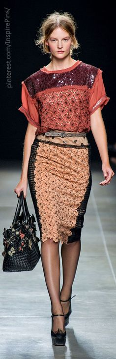 Love matching print with different color. Bottega Veneta SS2013