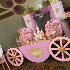 Disney princess birthday party dessert table and decor – Artofit Princess Birthday Party Decorations, Disney Princess Birthday Party, Princess Theme Party, Cinderella Birthday, Baby Birthday, First Birthday Parties, Party Themes, Themed Parties, Ideas Party
