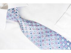 https://www.san-dee.com/rhinestone-ties/brand/tls/tsl-rhinestone-silk-tie-pink-checker-on-blue-with-silver-sparkles.html