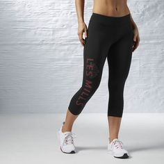 20e8ced0f36116 Designer Clothes, Shoes & Bags for Women | SSENSE. Black ReebokLes Mills CapriBodypumpStudioFitness FashionShoe BagPantsPolyvore