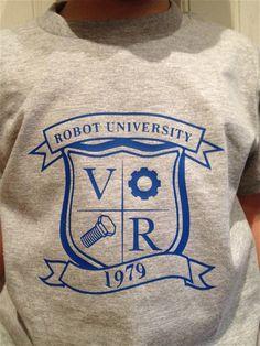 Robot University Children's TShirt by TheVintageRobot on Etsy, $14.99