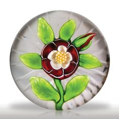 Antique Baccarat red and white buttercup paperweight.(36) images