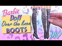 DIY How To Doll Over The Knee Boots Tutorial // Barbie/Doll Miniature Shoes - YouTube