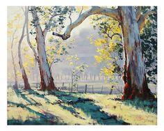 ÁRBOLES pintura ORIGINAL pintura al óleo del por GerckenGallery