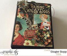 Graphic 45 Raining Cats and Dogs Mini Album 2