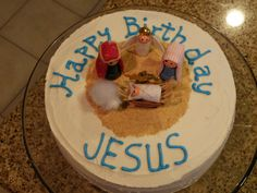 happy birthday Jesus cake