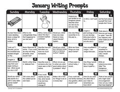 It's a brand-new year! Invite children to write every day in the month of January!
