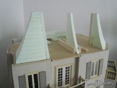 Dollhouse roof under construction.
