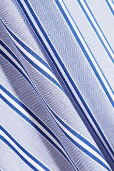 Balenciaga - Striped Cotton-poplin Top - Blue - FR40