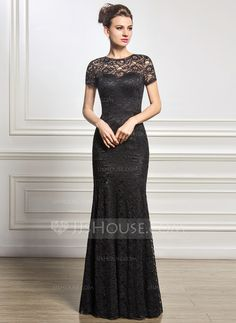 Trumpet/Mermaid Scoop Neck Floor-Length Zipper Up Sleeves Short Sleeves No 2015 Black Spring Summer Fall General Plus Lace Mother of the Bride Dress Mob Dresses, Event Dresses, Wedding Party Dresses, Nice Dresses, Bridesmaid Dresses, Mother Of Groom Dresses, Mothers Dresses, Mother Of The Bride, Vestidos Mob