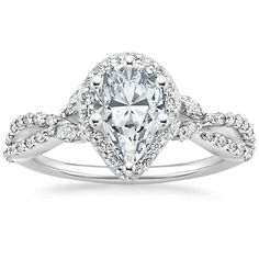 Platinum Luxe Willow Halo Diamond Ring (1/2 ct. tw.) from Brilliant Earth
