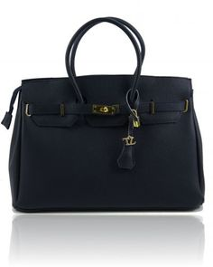 Tl Bag Tl141092 229 Structured Leather Handbag With Golden Hardware In A Range Of Colours