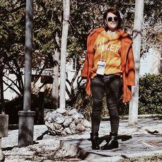 Buenos días  Tenemos nuevo post con nuevo look !!! Os espero en almamodaaldia.com #naranja #look #feliz #love #zara