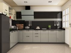 Buy Lisse L-Shaped Modular Kitchen from Capricoast. L Shaped Modular Kitchen, L Shaped Kitchen, Kitchens, Kitchen Cabinets, Shapes, Design, Home Decor, Smooth, L Shape Kitchen
